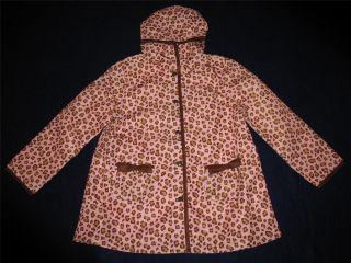 Gymboree Kitty Glamour Girls Leopard Raincoat New
