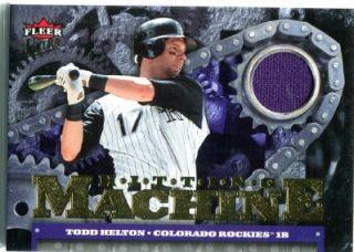 Todd Helton 2007 Ultra Hitting Machines Jersey Card Colorado Rockies