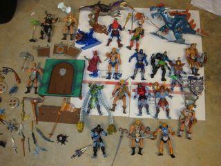 Masters of the Universe Heman MOTU LOT OF 200X SERIES FIGURES He man