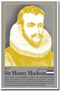 Explorer Sir Henry Hudson Social Studies History Classroom New School