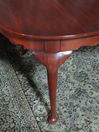 BEAUTIFUL SIGNED HENKEL HARRIS SOLID CHERRY DINING ROOM TABLE