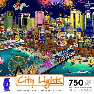 Lights Jigsaw Puzzles Atlantic City Sharie Hatchett Bohlmann