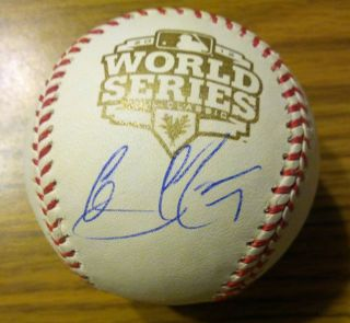 Gregor Blanco Signed 2012 World Series Baseball COA San Francisco