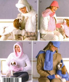 DOGS COATS HATS MISS HATS SCARVES MITTENS SEWING PATTERN Simplicity