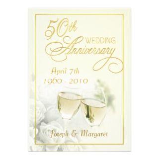 50.o Invitaciones de la fiesta de aniversario del Invitaciones
