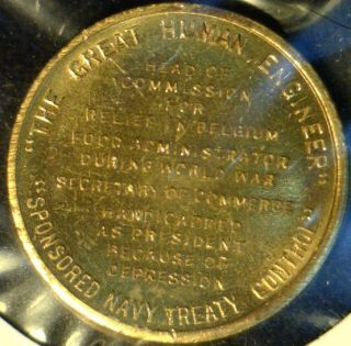 Herbert Hoover MINT Version #2 Commemorative Bronze Medal   Token