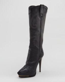 high heel cowboy boot black $ 3200 pre order spring 2013 runway
