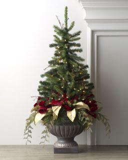 Bordeaux Pre Lit Christmas Tree