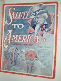 Salute to America by Harry J Lincoln Large Sheet Music