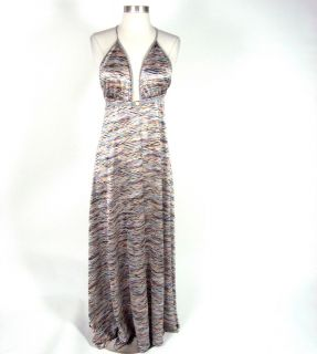 Khloe Kardashian Karina Grimaldi Multicolored Knit Maxi Dress Size M