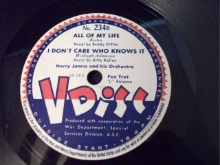 78rpm V Disc All My Life Harry James Yank Lawson