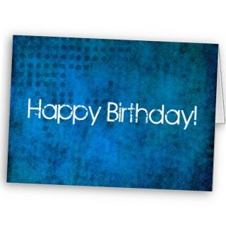 Blue Background Happy Birthday Card