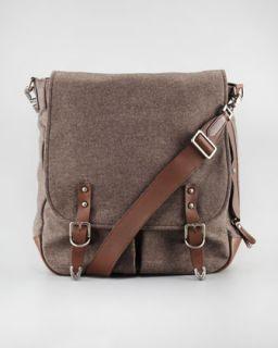 Brunello Cucinelli Flannel Crossbody Messenger Bag