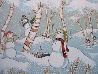 Day Snowmen Woods Alexander Henry Christmas Winter Fabric Yard