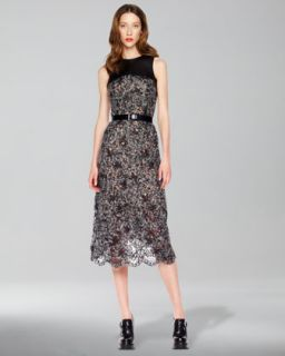 Michael Kors Mohair Lace Dress   Neiman Marcus