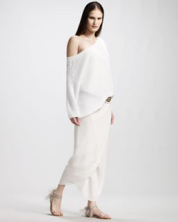Brunello Cucinelli English Rib Paillette Sweater & Strapless Jersey