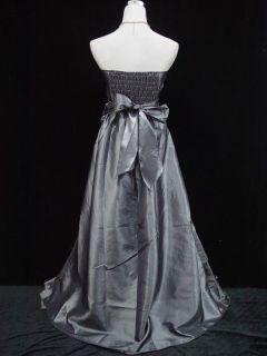 CHERLONE Satin Robe de Soiree Gris Taille 42 44
