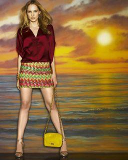 Haute Hippie Selma Satin Top & Sequined Skirt