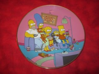 Matt Groening 1991 Numbered Limited Edition Plate The Simpsons A