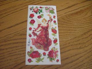 Grossman VICTORIAN RED DRESS CHRISTMAS ANGEL ROSES FLOWER STARS TORCH