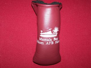 Hickam AFB Air Force Base Mamala Bay Hawaii Putter Headcover Golf
