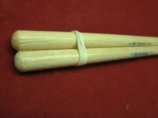 vintage nos LUDWIG 9A   wood tip Hickory Drum Sticks 1970s NOS