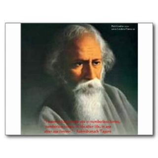 Rabindranath Tagore Love Quote Gifts & Cards Post Cards