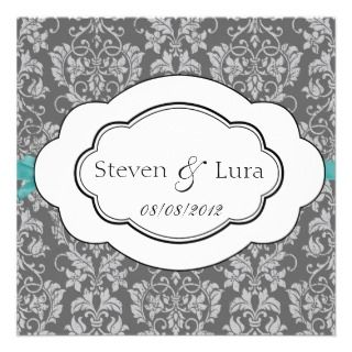Classic Wedding Invitation in Gray