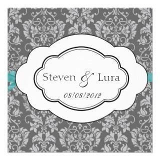 Classic Wedding Invitation in Gray