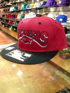 NCAA Arkansas Razorbacks hogs game day SnapBack Flatbill Cap Hat