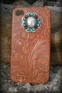 iPhone Cover 4 4G 4S Western Cowgirl Swarovoski Rhinestone Concho Case