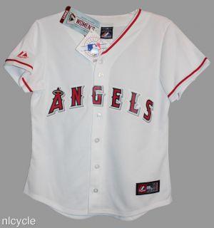 Anaheim Angels MLB Majestic White Jersey Womens s M L XL 2XL