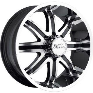 Milanni Kool Whip 8 20 Machined Black Wheel / Rim 8x6.5 with a 18mm