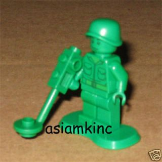 lego toy story green army men w metal detector minifig