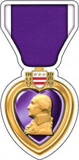 Purple Heart Medal Army Navy Air Force Marine National Guard Decal