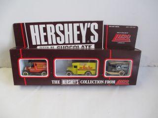 Lledo Hershey Milk Chocolate 3 Vehicle Die Cast Set 1983