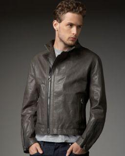 King Baby Studio Asymmetric Leather Jacket