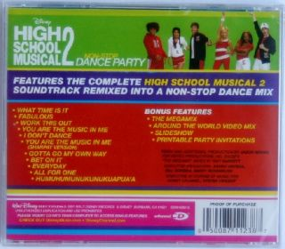 Disney HIGH SCHOOL MUSICAL 2 Non Stop DANCE PARTY CD NEW + Mickey Gift