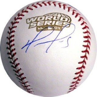 David Ortiz Signed 2007 World Series Baseball Sports