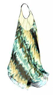 Haute Hippie womens silk backless halter maxi dress $495 New