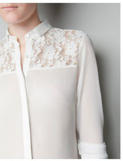 SEXY LONG SLEEVE Perspective LACE CHIFFON SHIRT BLOUSE 3724