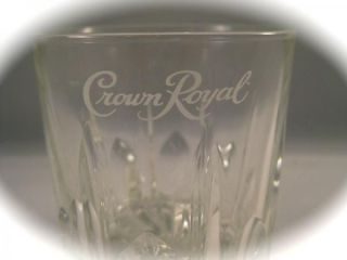 Pt. Crystal Cut Clear Glass Embossed Crown Royal Highball Glasses #2