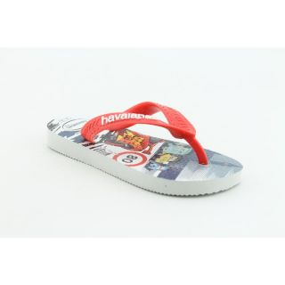 Havaianas Kids Cars Infant Baby Boys Size 7 Red White Flip Flops