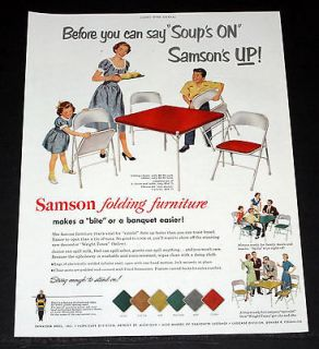 PRINT AD, SAMSON FOLDING FURNITURE, CARD TABLES & CHAIRS, ART