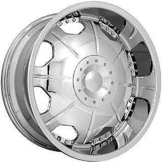 Strada Mirror 22 Chrome Wheel / Rim 6x5.5 with a 20mm Offset and a 108