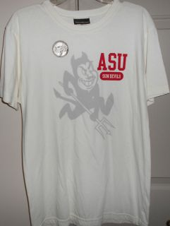 Arizona State University WHITE Tee Shirt in Adult size Large NEW
