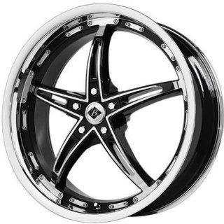 Black Ice Mayhem 17 Chrome Black Wheel / Rim 5x5 with a 40mm Offset