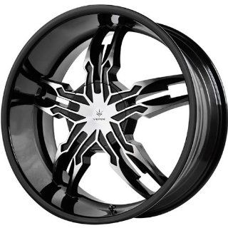 Verde Thorax 20 Black Wheel / Rim 6x5.5 with a 18mm Offset and a 108.1