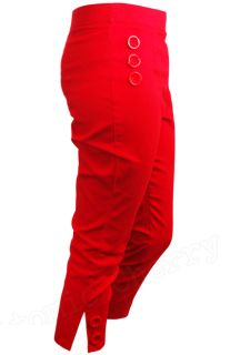 Collectif Hilda Capris Rockabilly Pin Up Tattoo Pants Trousers Retro