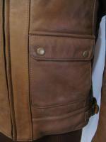 Vintage Hein Gericke Brown Leather Motorcycle Jacket 44 L